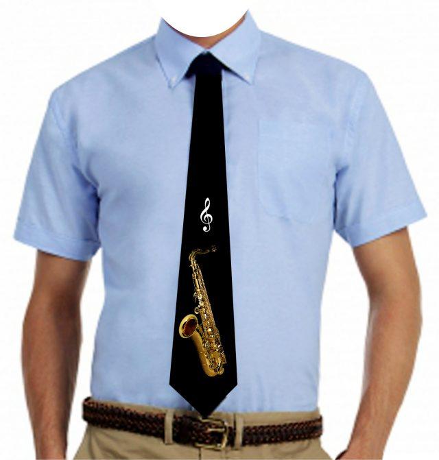 Cravate noire Ténor sax