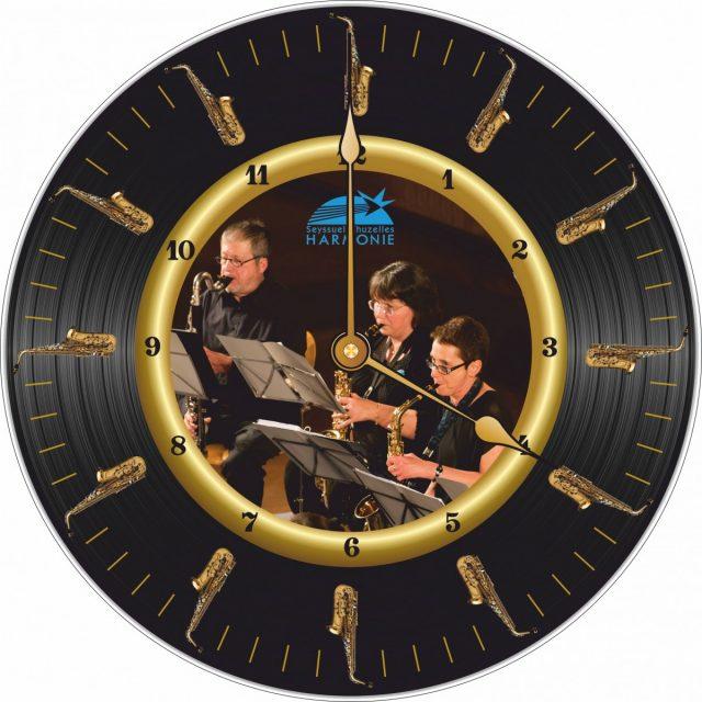 Horloge Harmonie Seyssuel Sax Alto Ø 290 mm
