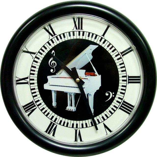 Horloge Piano blanc Ø 250 mm