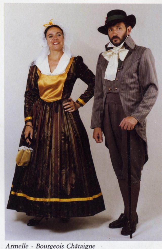 déguisement 1789 Bourgeois Châtaigne