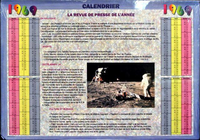 Année de Naissance - Calendrier 1969