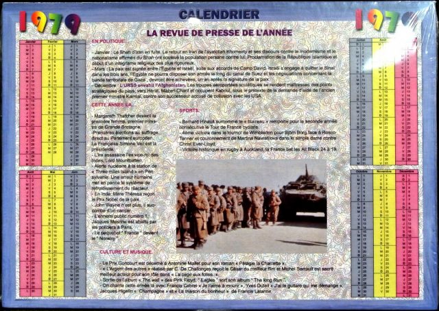 Année de Naissance - Calendrier 1979