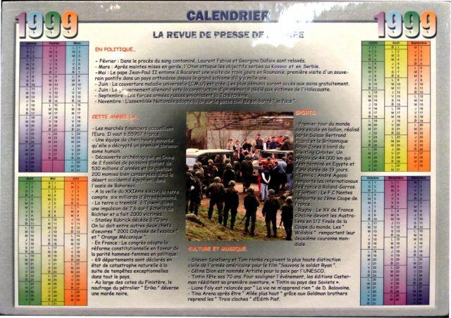 Année de Naissance - Calendrier 1999