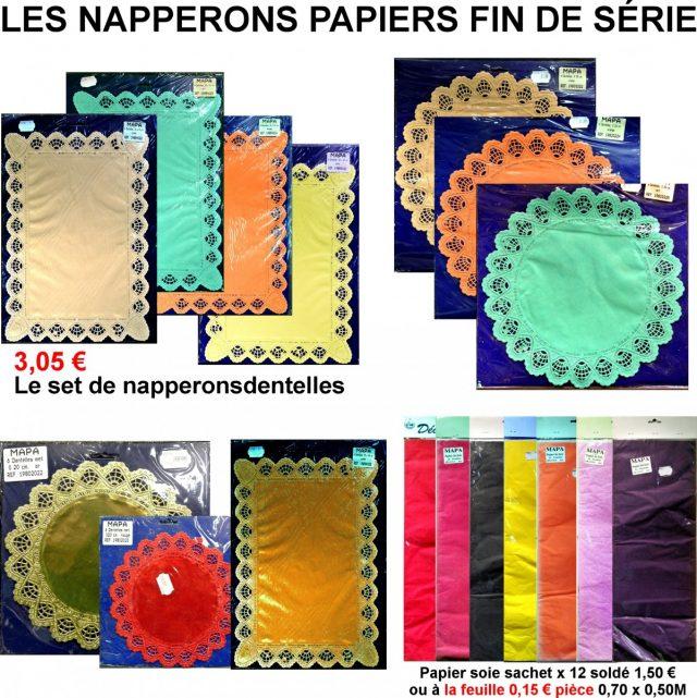 Déco papier Rond dentelle Papier de soie