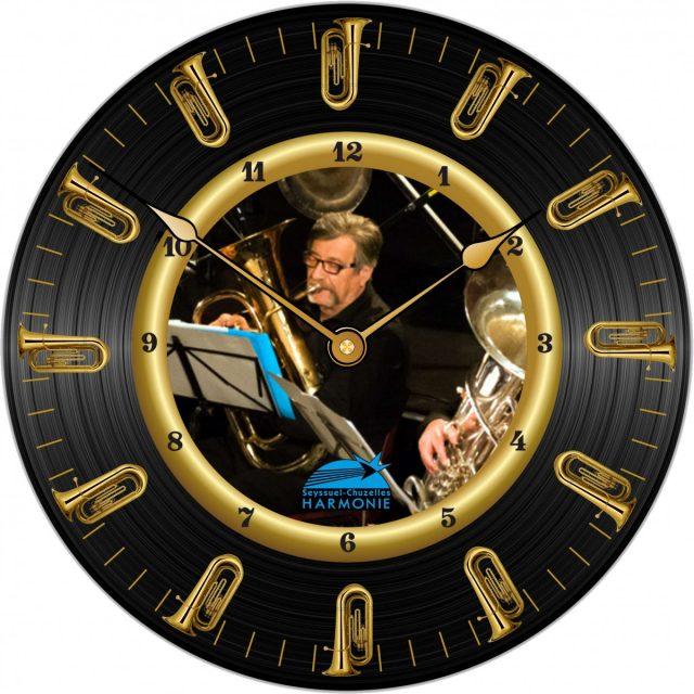 Horloge Harmonie Seyssuel Tuba Ø 290 mm