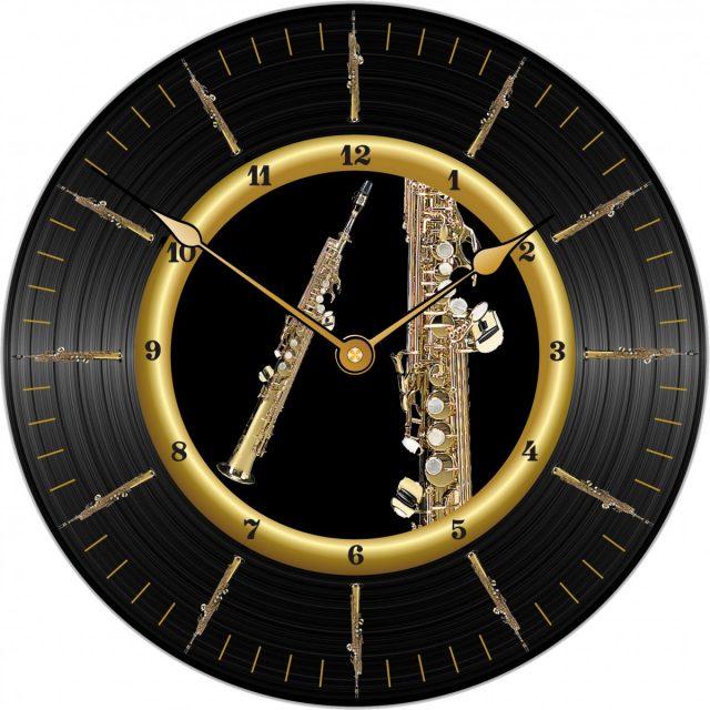 Horloge Sax Soprano Ø 290 mm