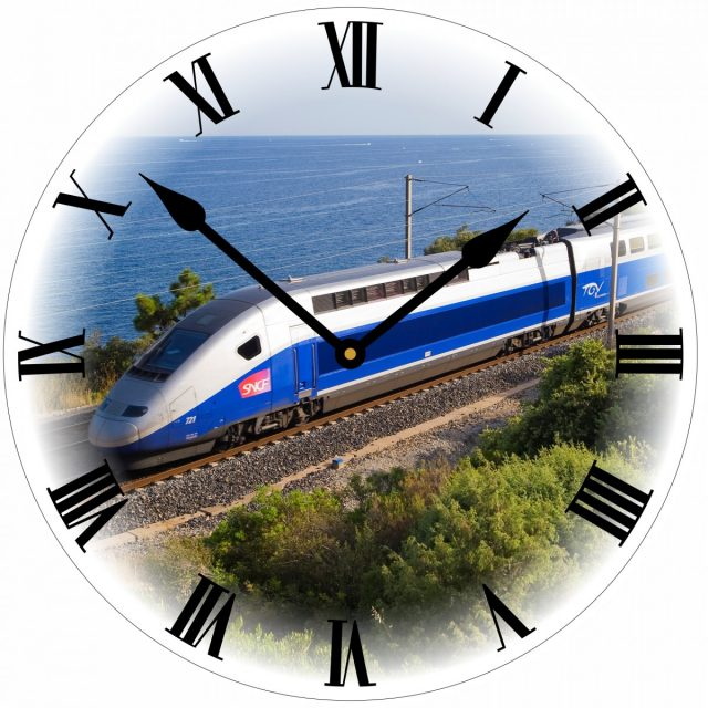 Horloge train TGV Atlantique