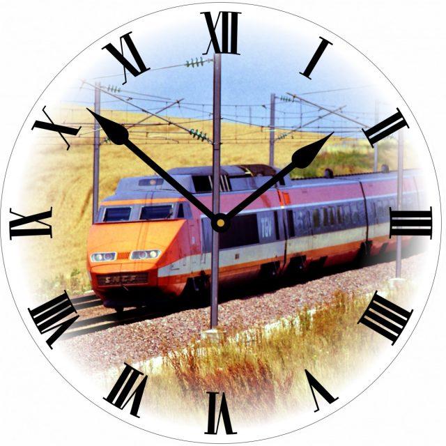 Horloge train TGV Orange