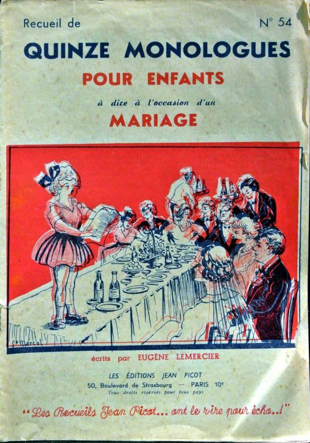 Livret 15 Monologues pour enfants à dire au mariage