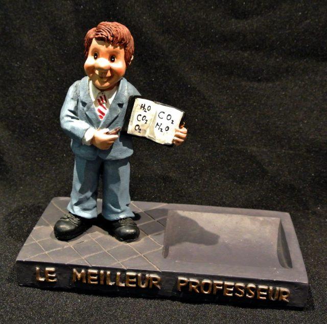 Presse papier cendrier Professeur