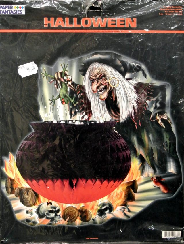 Halloween Alvéolé Sorcière Chaudron