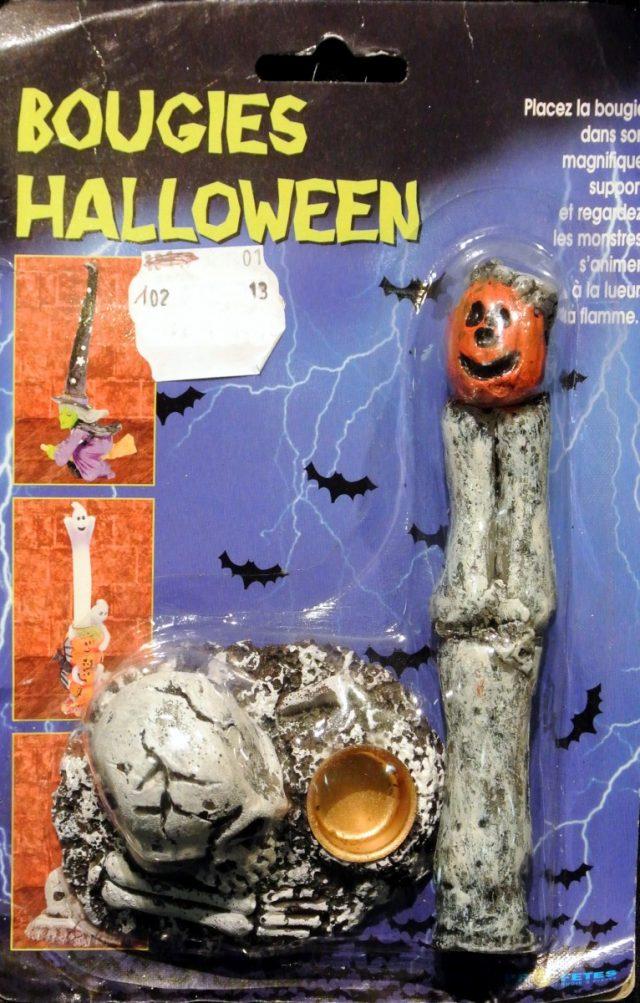 Halloween Bougie Halloween avec support