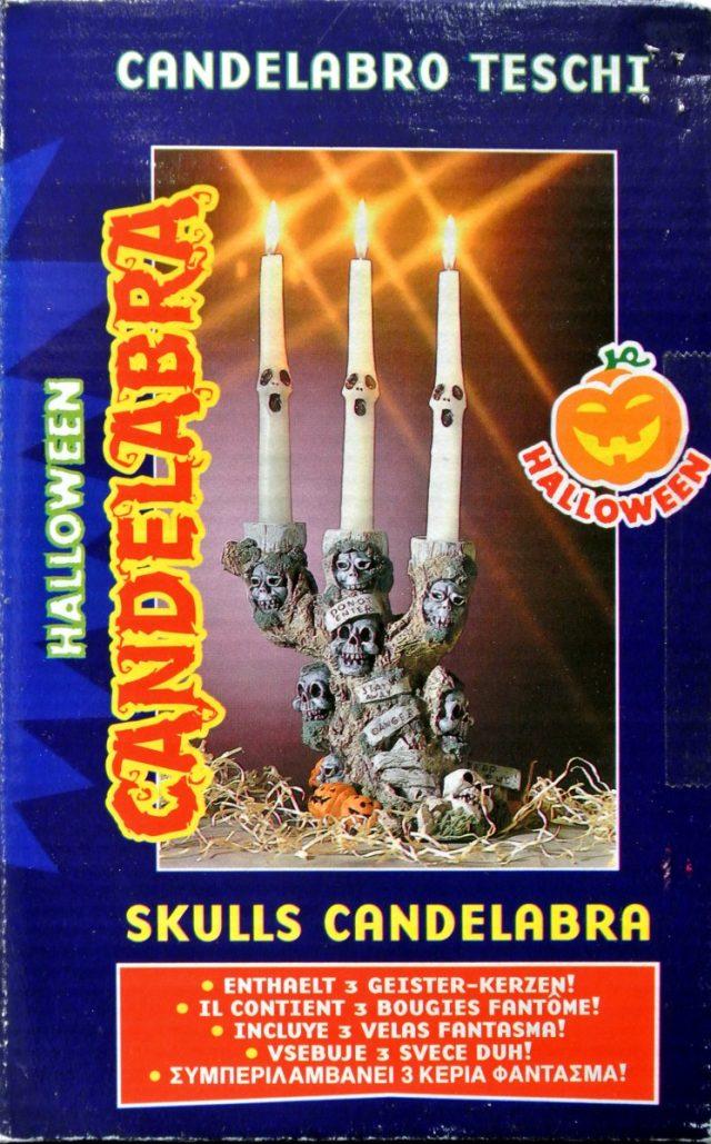 Halloween Candelabre 3 bougies fantômes