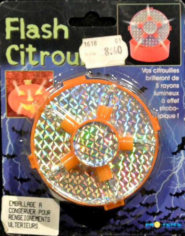 Halloween Flash Citrouille sans piles (R14)
