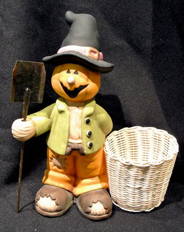 Halloween Jardinier Citrouille avec Pelle