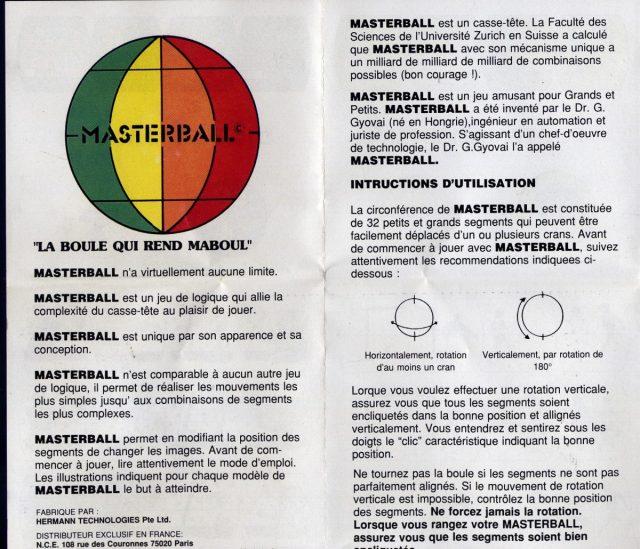 Rubis Cube Méthode Masterball recto