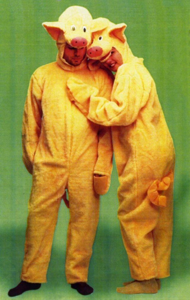 Costume cochon peluche