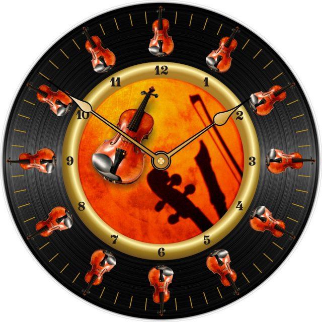 horloge personnalisée violon