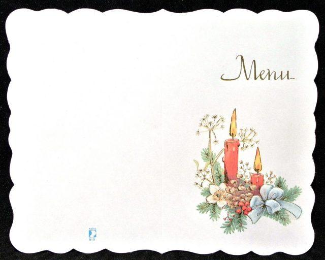 Menu Noël