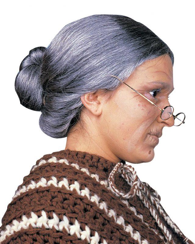 Perruque Gran-Mère Grise