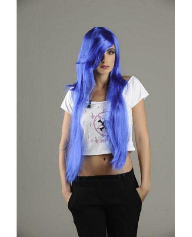 Perruque manga bleue