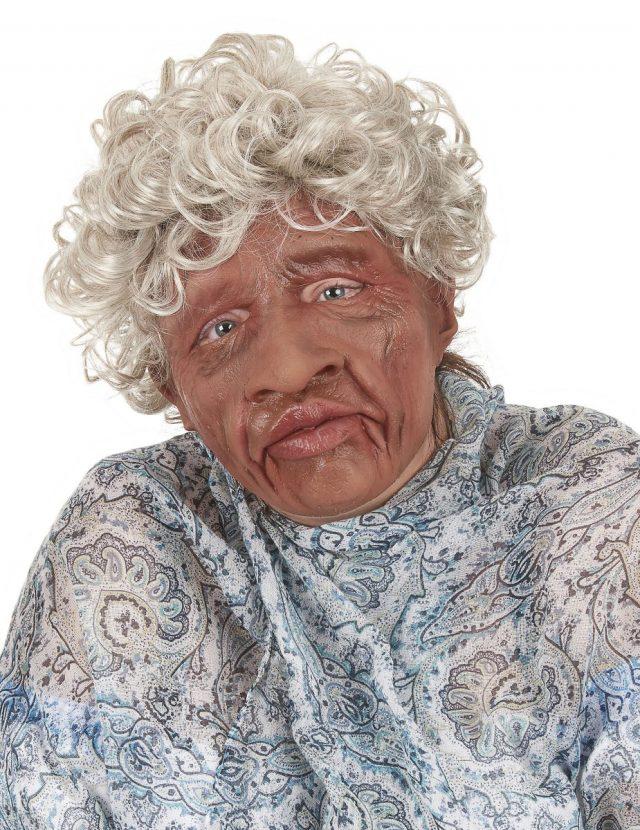Masque souple grand-mère avec cheveux
