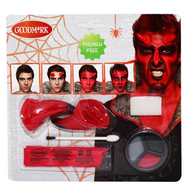 Kit maquillage démon adulte Halloween