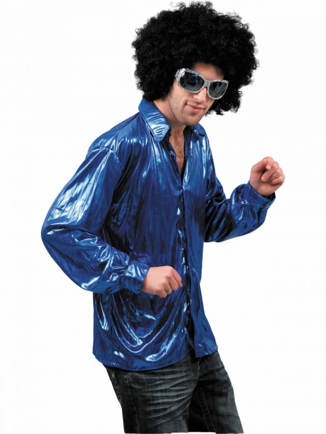 Chemise Night Fever Bleue