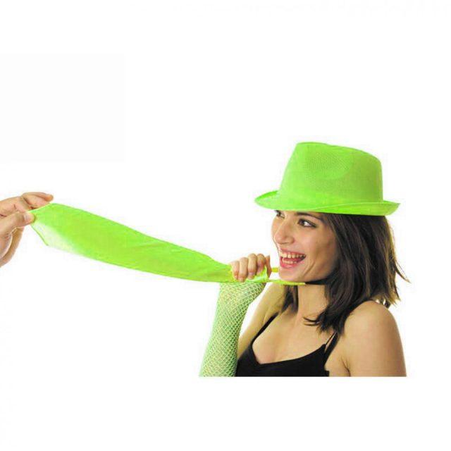 Cravate fluo vert
