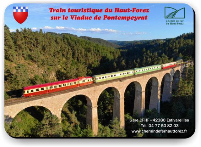 Tapis de souris Train CFHF Viaduc de Pontempeyrat