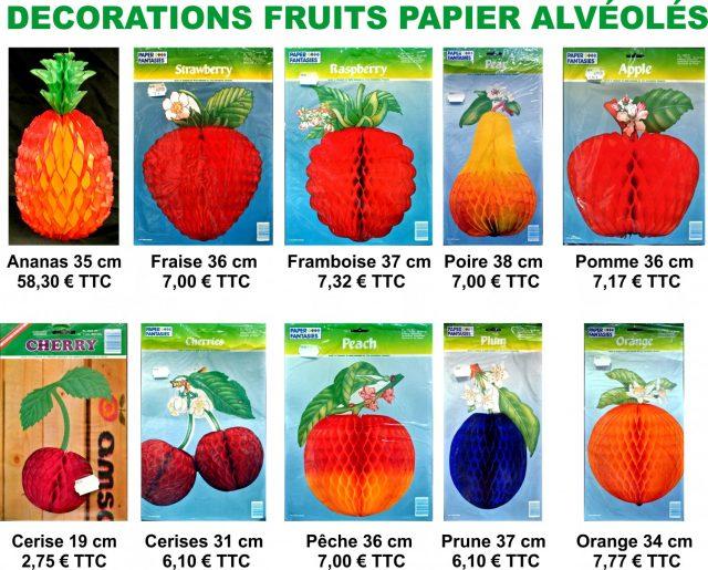 Fruits Papiers Alvéolés