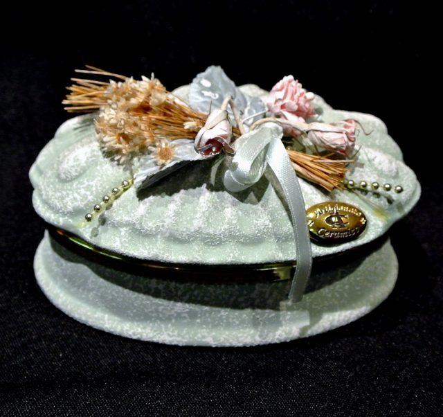 Boîte à bijoux résine et porcelaine
