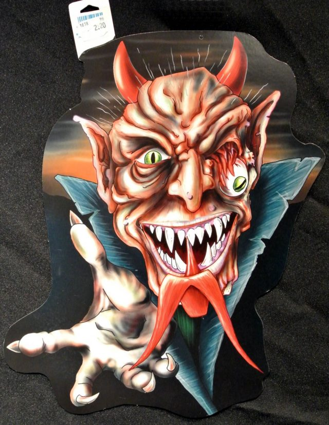 Halloween Cut-Out Diable