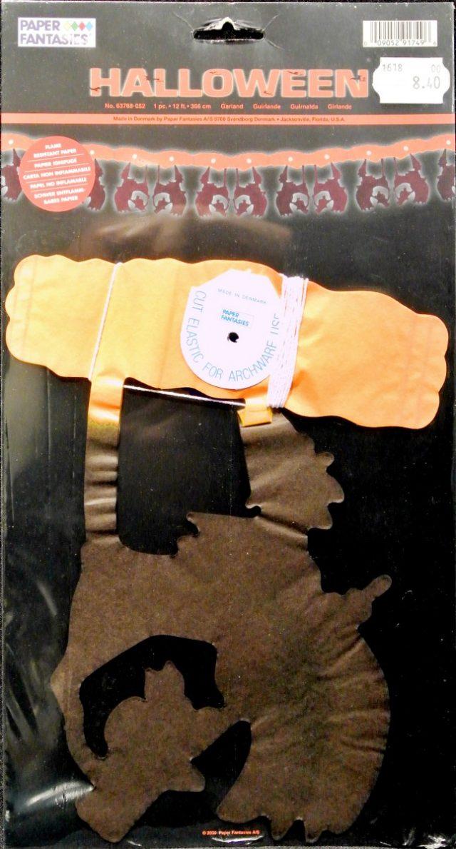 Halloween Guirlande Sorcière orange et noire 3,60 m