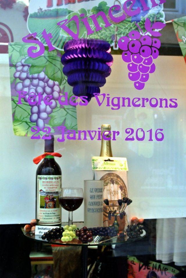 Déco vigneron Saint-Vincent